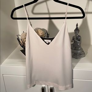 Wilfred cami off white with black lining